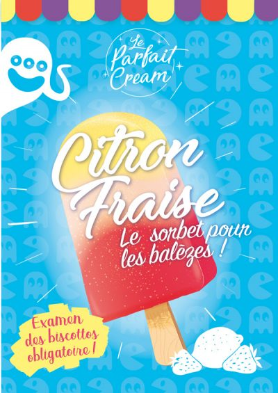 illustrateur freelance-affiche illustration glace et sorbet