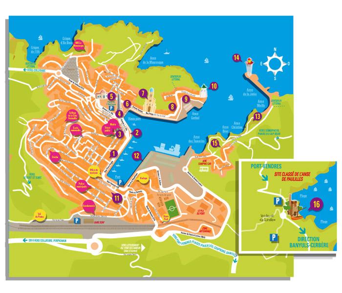 Studio graphique marcel pixel marcel pixel graphiste illustrateur freelance maquette brochure - Office du tourisme de port vendres ...