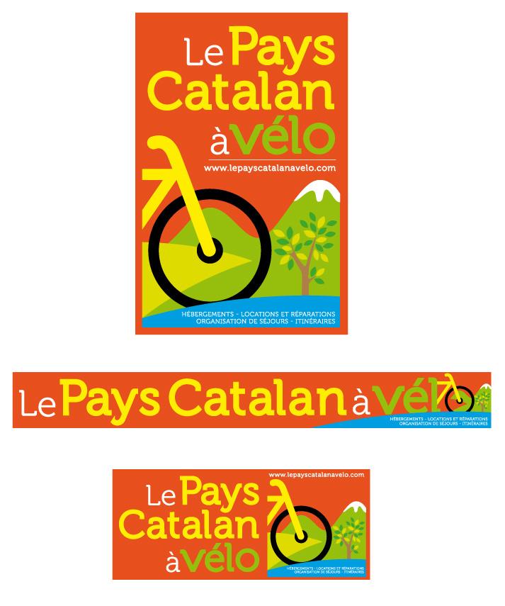 Logo pays catalan a vélo / graphiste Marcel Pixel