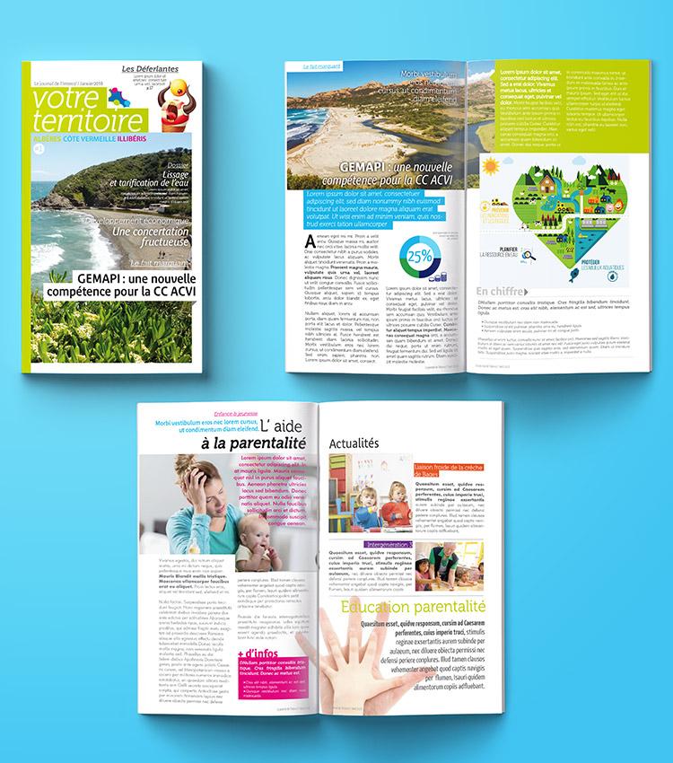 Conception magazine par Marcel Pixel graphiste freelance