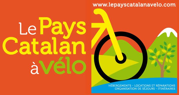 """Présentation du logo crée pour le """"pays catalan à vélo"""" par Marcel Pixel graphiste et illustrateur freelance. Visuel de la creation logo velo"""