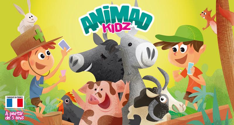 Illustration du jeu de société pour Animad kidz par Marcel Pixel illustrateur freelance Jeu de société illustré par Marcel Pixel