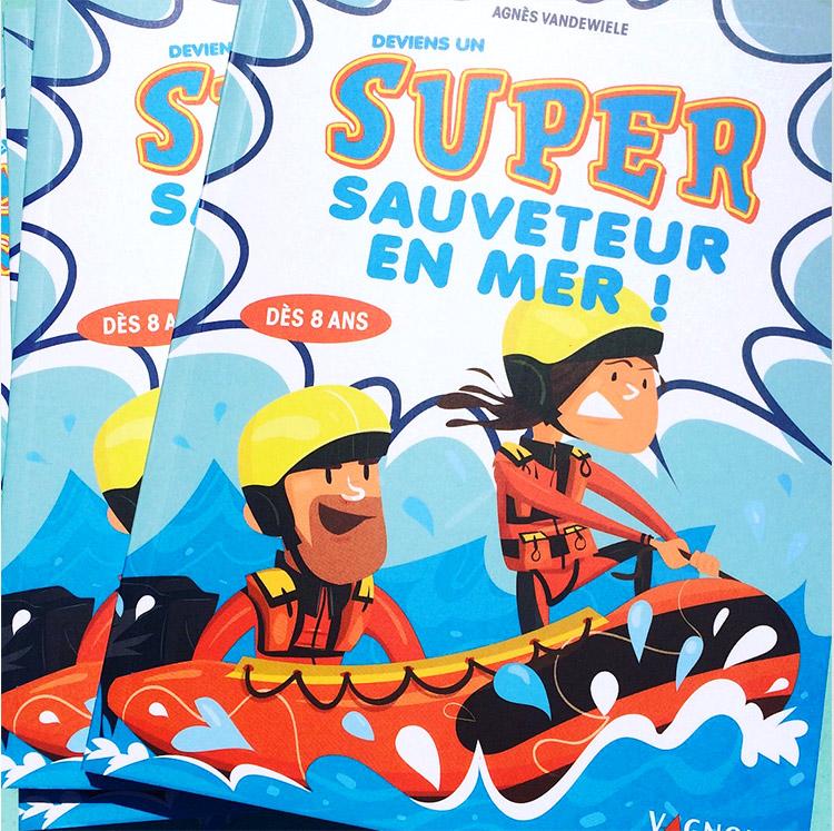 Livre jeunesse sur le métier de secouriste expliqué aux enfants illustré par Marcel Pixel illustrateur freelance pour la jeunesse. illustrateur-livre-jeunesse