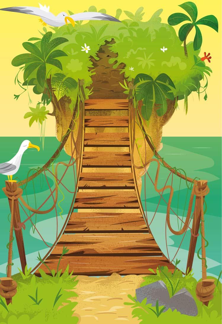 """<p>Illustration pont pirate pour les éditions jeunesse par Marcel Pixel illustrateur freelance.</p> <div>  <img src=""""/images/illustrateur-pont-pirate.jpg""""  alt=""""illustrateur pont suspendu pirate pour les éditions jeunesse""""  title=""""Dessins et illustration sur le théme des pirates et carte au trésor pour les éditions jeunesse.""""> <p>illustrateur-pont-pirate</p> </div>"""