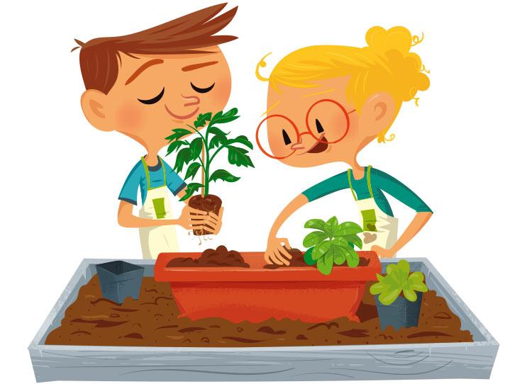 """<p>Dessin et illustration des affiches de la Sremaine du Jardinage par Marcel Pixel illustrateur freelance</p> <div>  <img src=""""/images/illustration-affiche-jardinage.jpg""""  alt=""""Illustrations des visuels de la campagne de communication de la semaine du jardinage par Marcel Pixel illustrateur indépendant""""  title=""""Dessin de 2 personnages goûtant des légumes pour les affiches jardinage""""> <p>personnage illustrés par Marcel Pixel</p> </div>"""