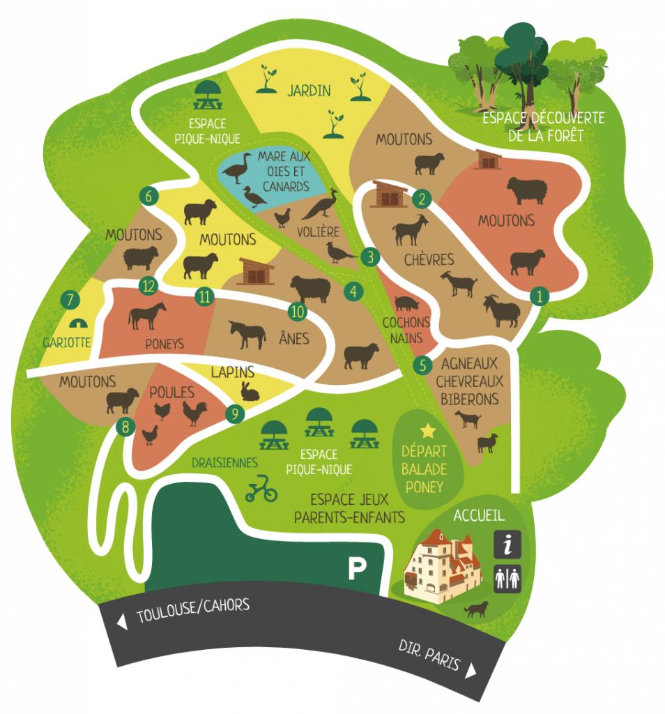illustration plan pour parc et ferme pédagogique