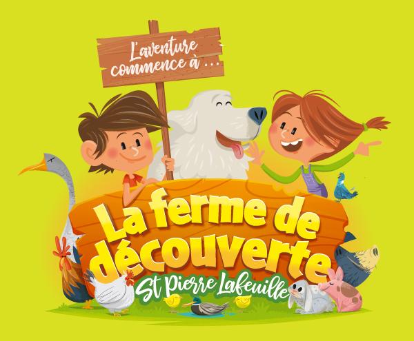 illustration enfant et animaux pour parc et ferme pédagogique